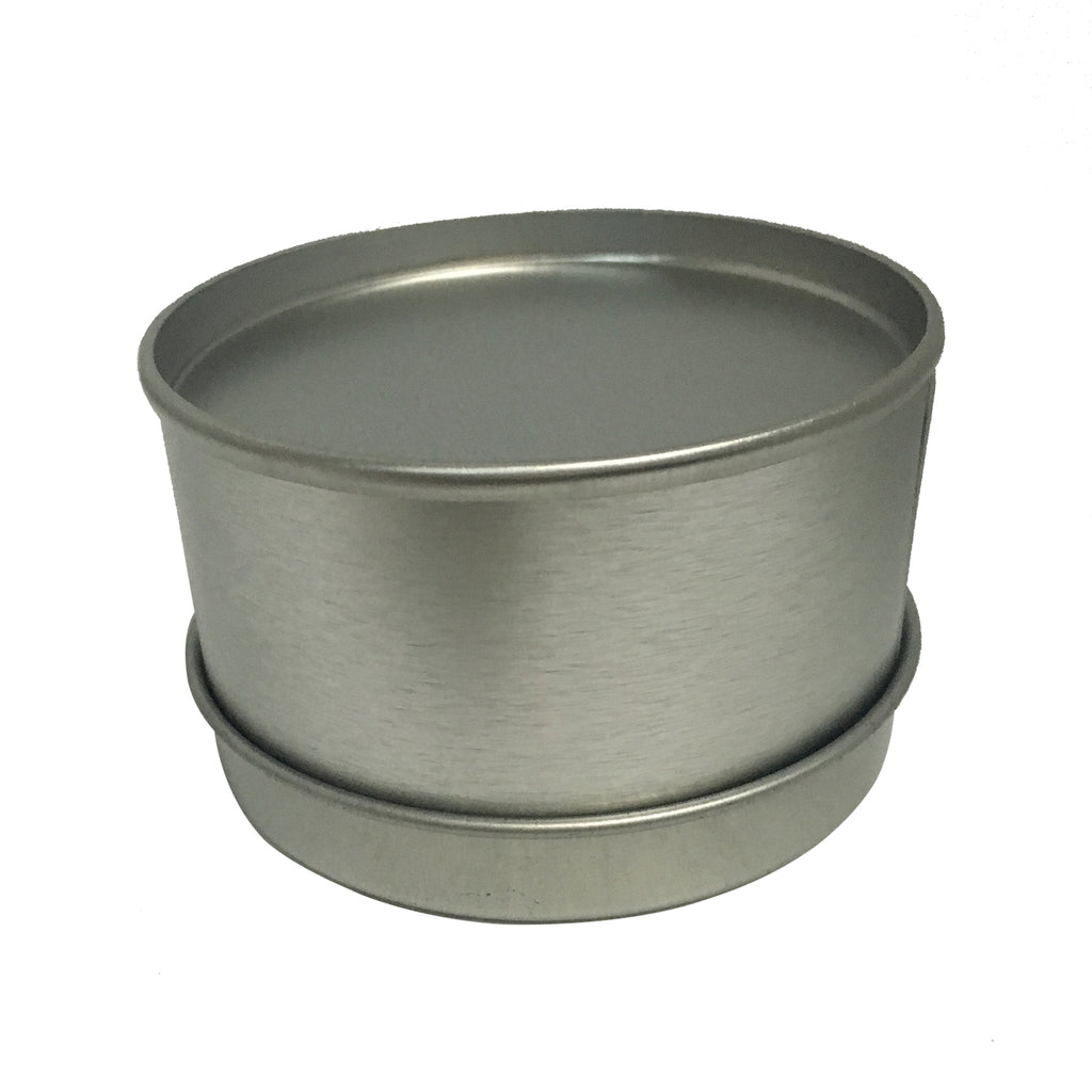 Round Tin With Solid/Window Slip Lid Sample