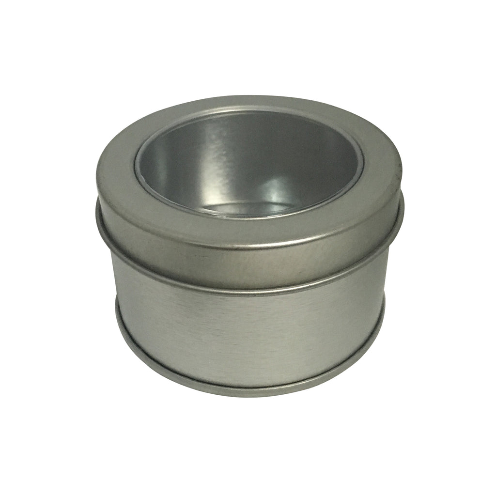 100pcs Round Tin Box With Solid/Window Lid/Item Ref: RMTB00013