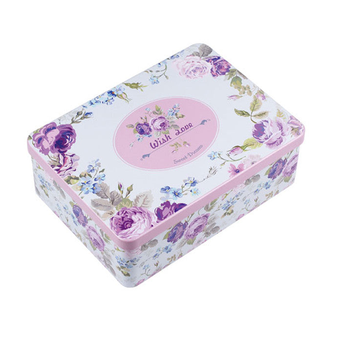 Rectangular Solid Lid Storage Tin