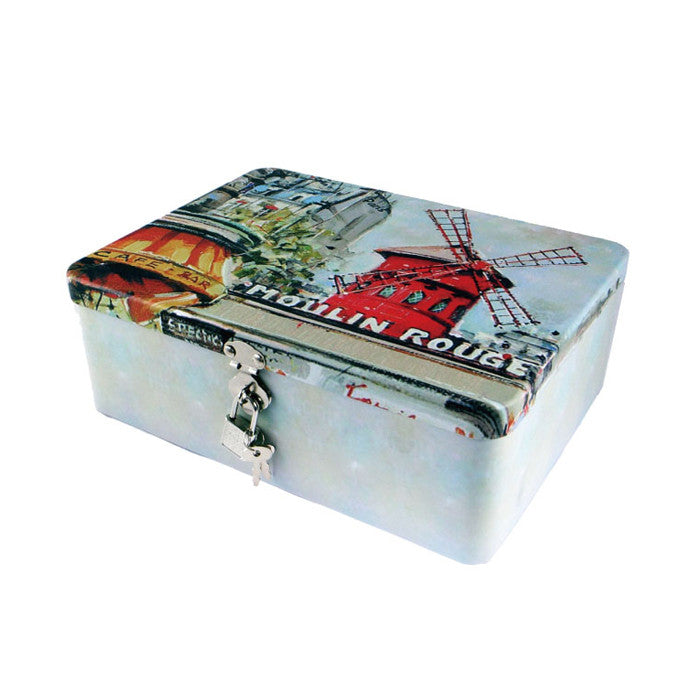Rectangular Solid Lid  Storage Tin with Lock - Ld Packagingmall