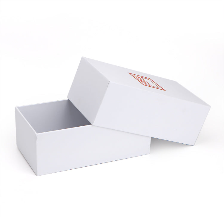 White sturdy gift box with lift lid - Ld Packagingmall