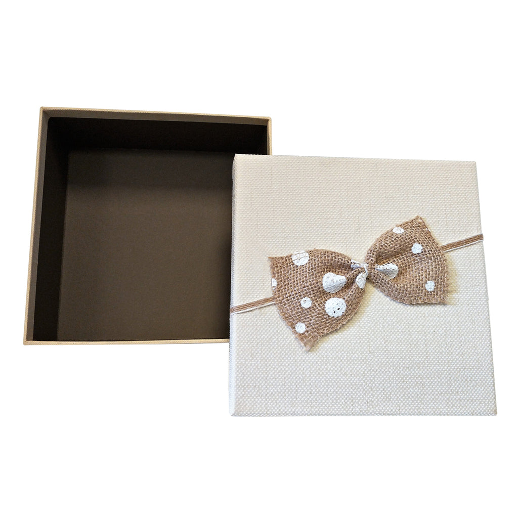 Luxury Rigid Square Gift Box with Bow ( Set of 3) - Ld Packagingmall