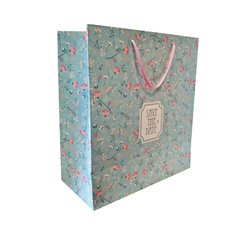 Flower Print Carrier Bag - Ld Packagingmall