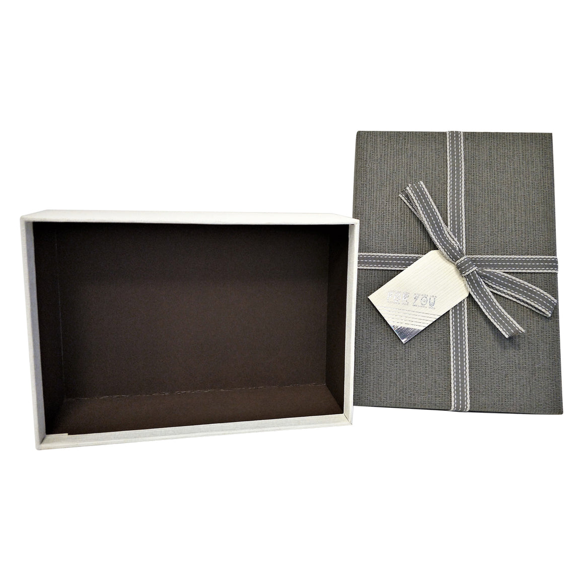 Rectangular Gift box with Bow and Tag - Set of 3