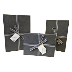 Luxury Rigid Rectangular Gift box with Bow and Tag - Ld Packagingmall