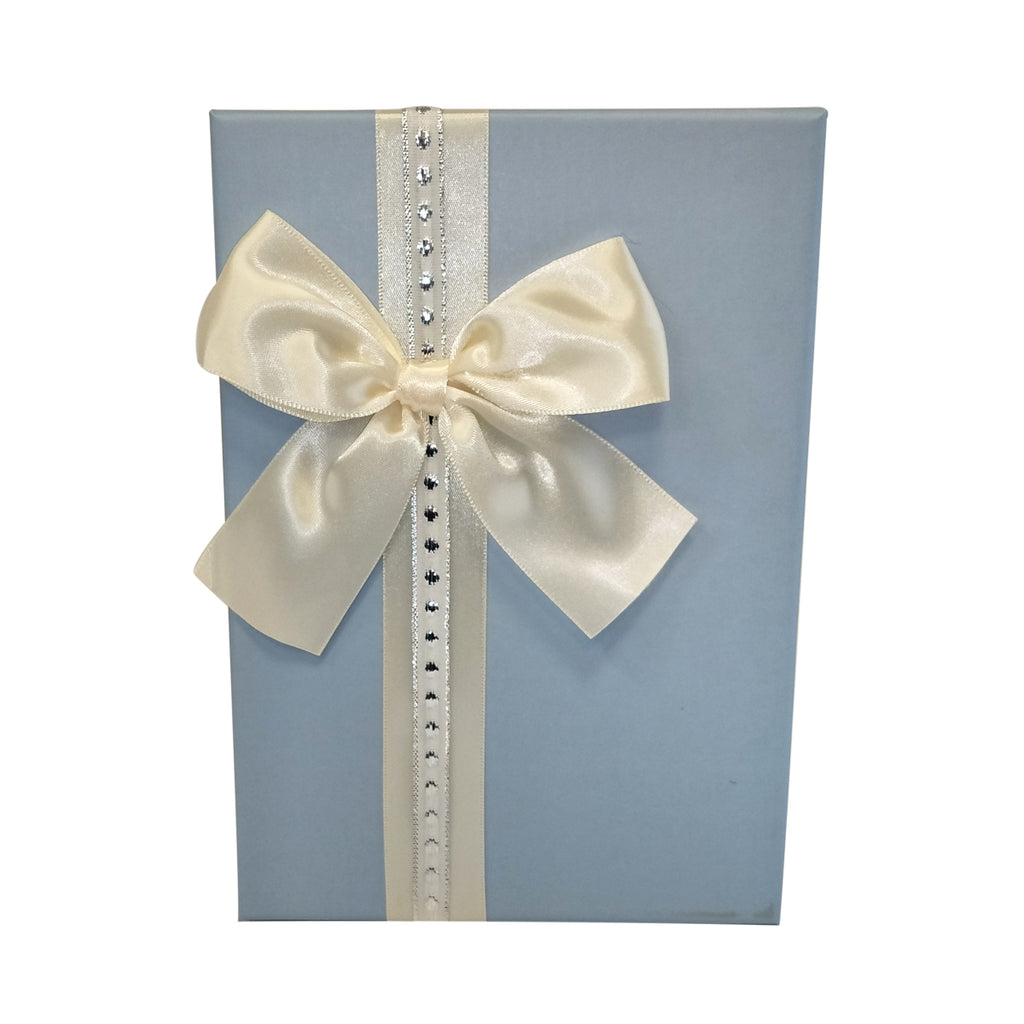 Luxury Rigid Rectangular Gift Box with Ribbon and Bow- Set of 3 - Ld Packagingmall