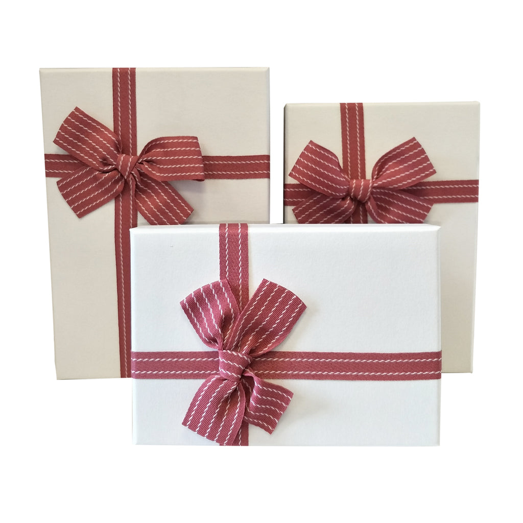 Luxury Nested Rigid Rectangular Gift Box With Lift Off Lid And Ribbon & Bow - Ld Packagingmall