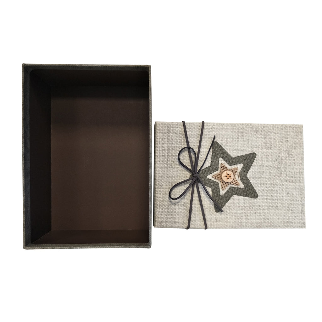 Luxury Rigid Rectangular Gift Box with Handmade Star - Set of 3 - Ld Packagingmall