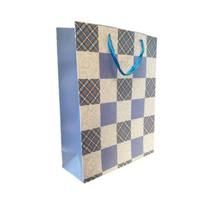 Checkered Print Gift Carrier Bag - Ld Packagingmall