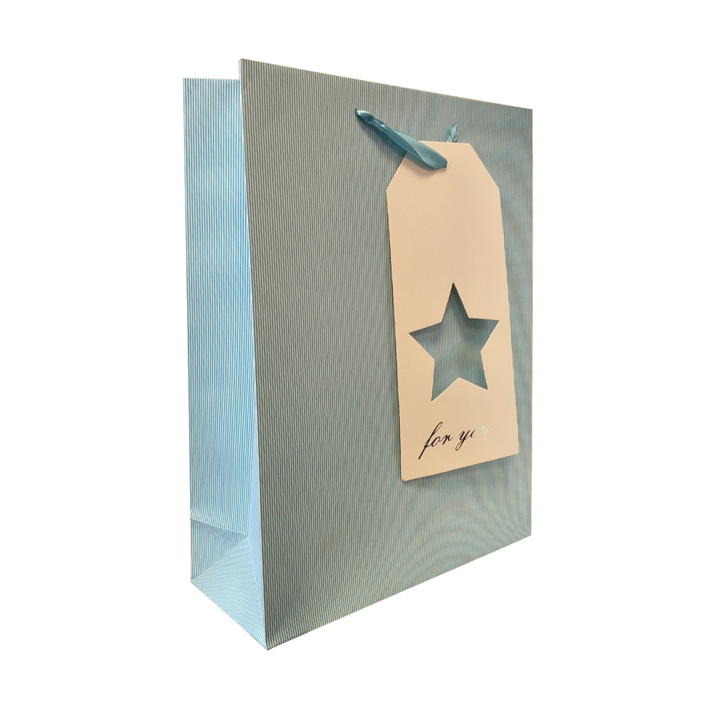 Gift Carrier Bag with Cut Gift Tag - Ld Packagingmall