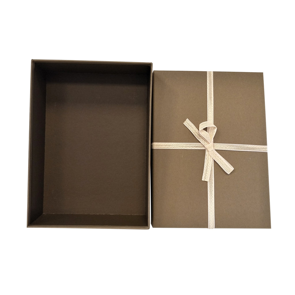Luxury Rigid Rectangular Gift Box with Bow -Set of 3 - Ld Packagingmall