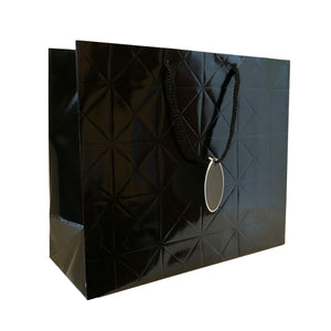 Gloss Laminated Checkered Gift Carrier Bag with Tag - Ld Packagingmall