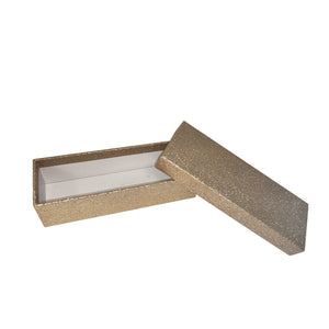 Champagne Rectangular Glitter Rigid Storage Decoration Gift Box Set of 10 Pieces With Lid - Ld Packagingmall