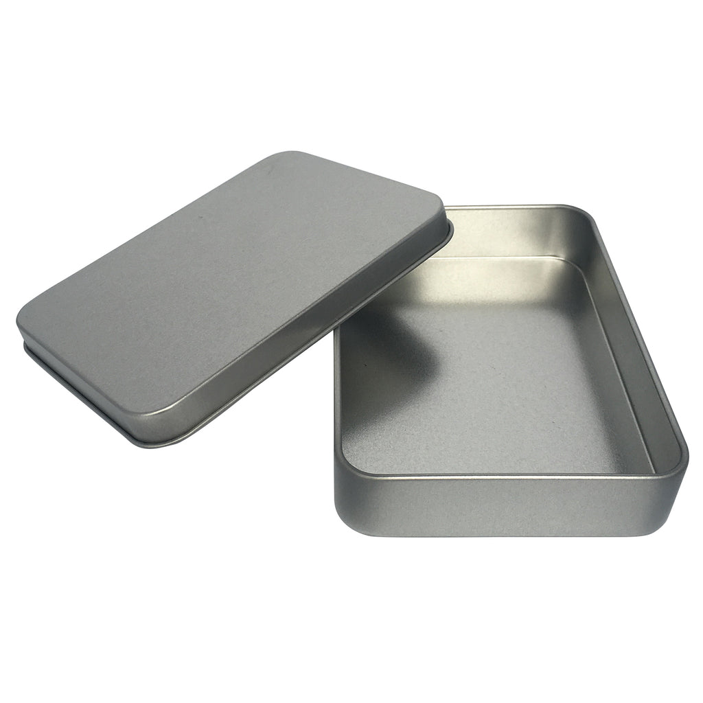 100pcs Sliver Rectangular Gift Tin Box/ Item Ref: RMTB0005
