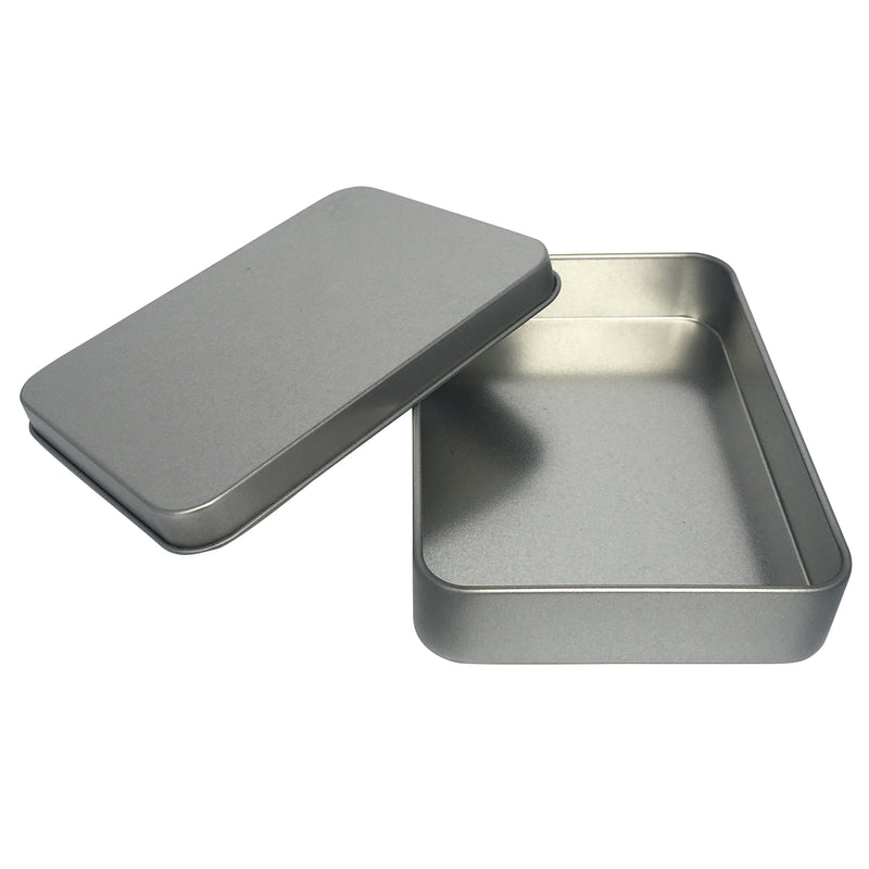 100pcs Sliver Rectangular Gift Tin Box/ L115 x W85 x H22(mm)