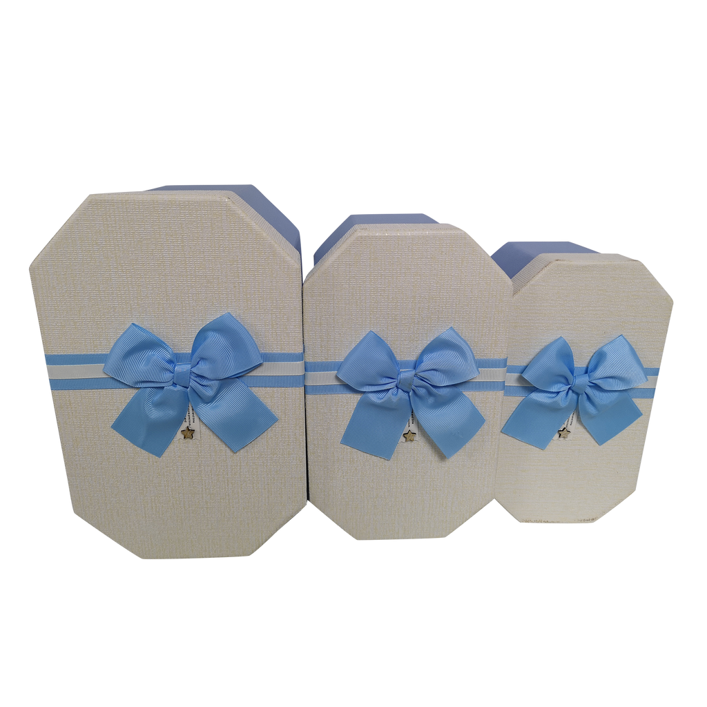 Octagonal Rigid  Gift Box With Ribbon & Bow
