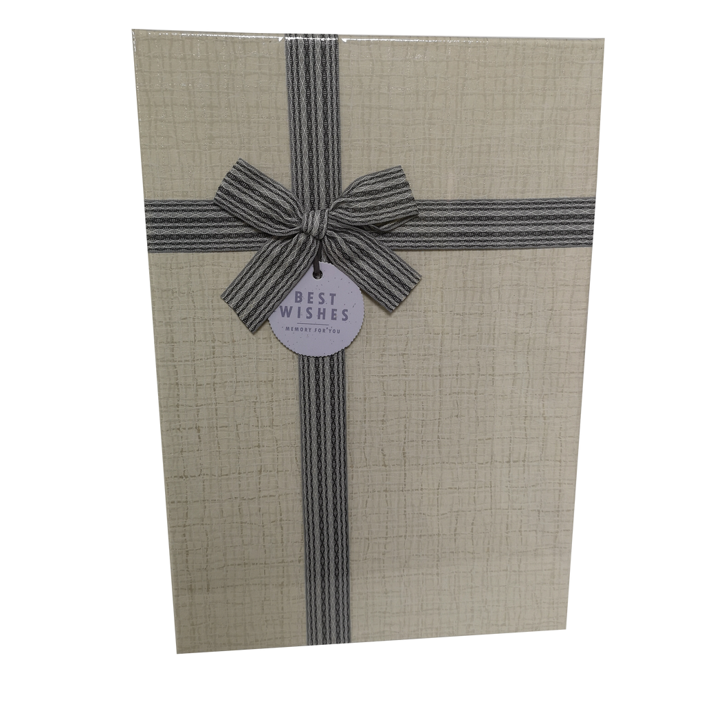 Rectangular Rigid Checks Gift Box With Ribbon & Bow