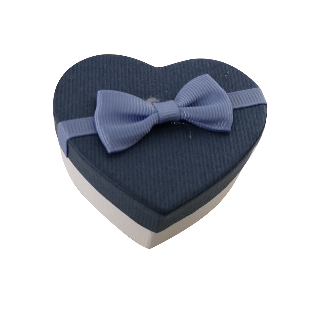 Rigid Hearts Gift Box With Ribbon & Bow
