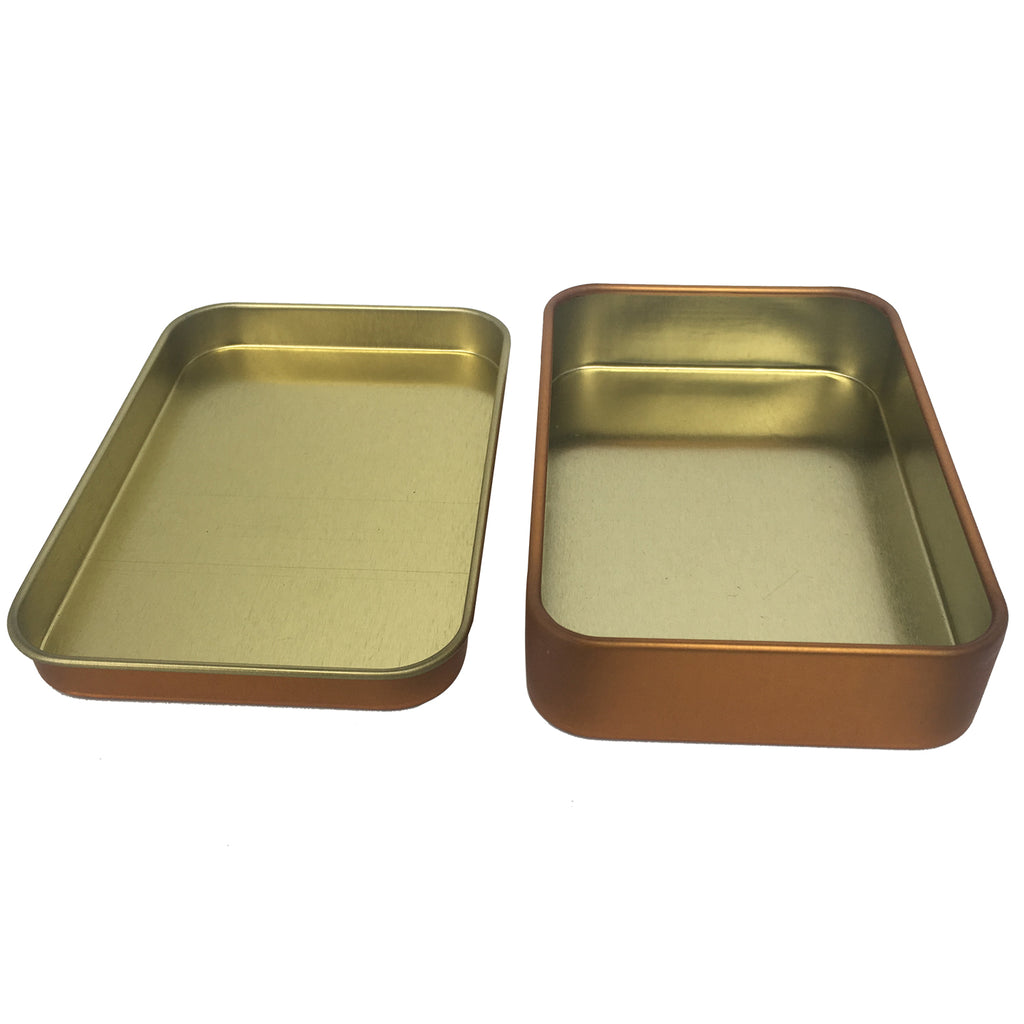 Sample of 100pcs Sliver/ Black/ Gold Rectangular Gift Tin Box With Solid Lid/ Item Ref: RMTB0002