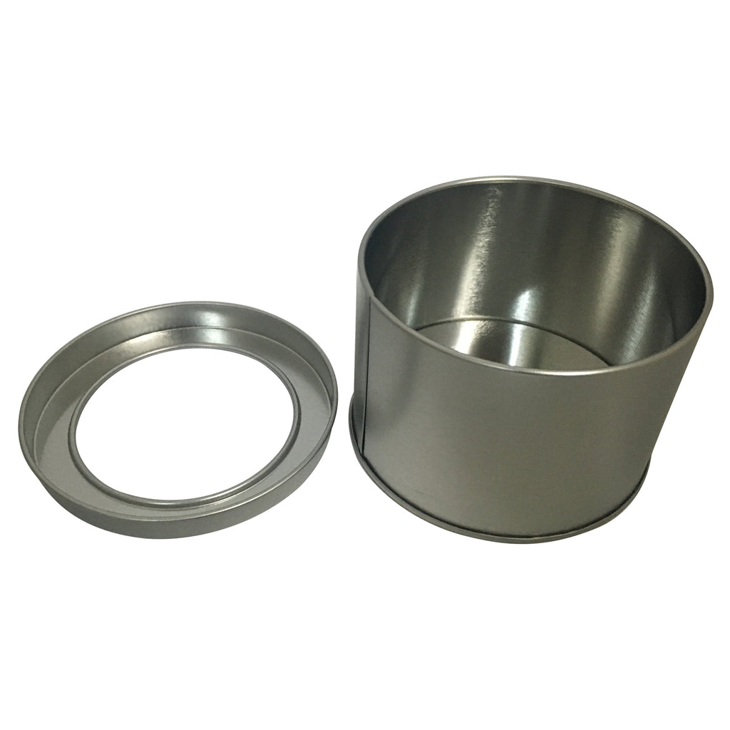 100pcs Medium Round Gift Tin Box With Solid Lid/ Window Lid/ EVA Foam Inserts/ Item Ref: RMTB00011
