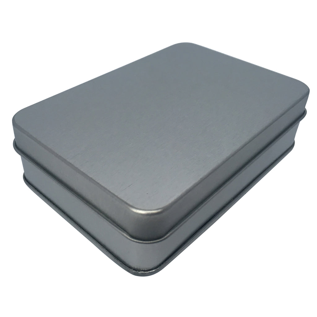 Sample of 140pcs/200pcs Sliver Rectangular Gift Tin Box With Solid Lid/ Window lid (Item Ref: RMTB0004)