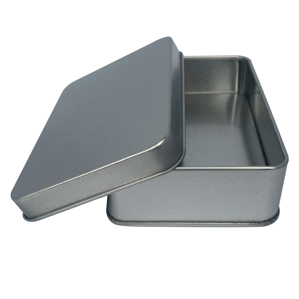 140pcs/200pcs Sliver Rectangular Gift Tin Box With Solid Lid/ Window lid (Item Ref: RMTB0004)