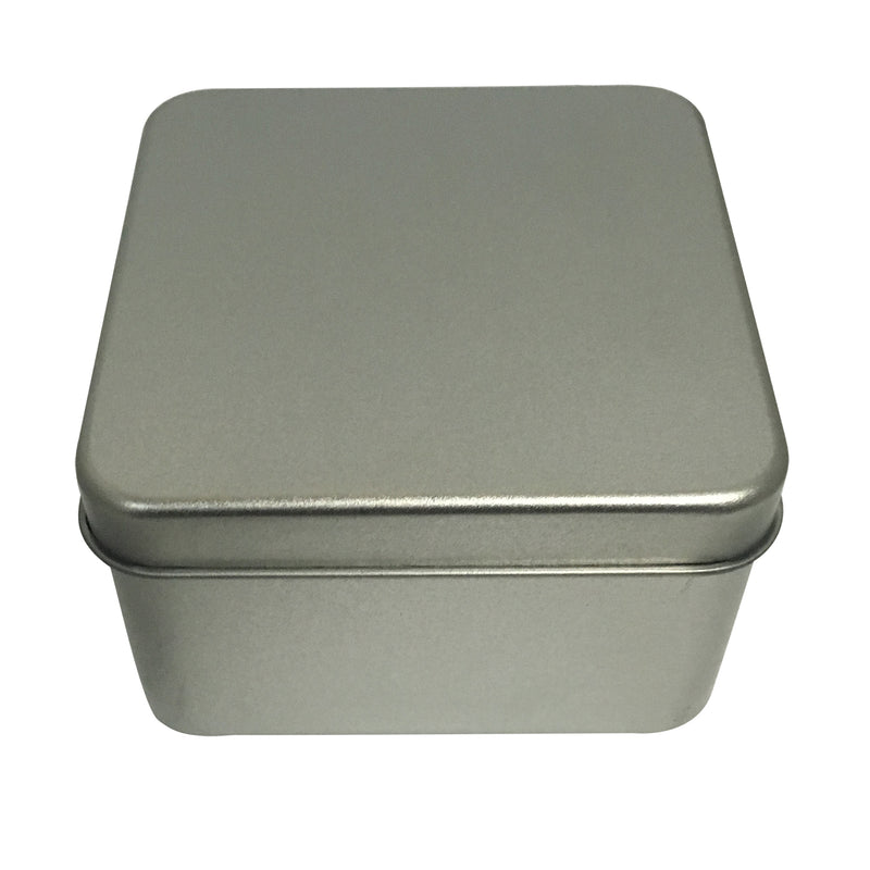 Sample of 100pcs Square Gift Tin Box With Solid Lid & Window lid/ Item Ref: RMTB0003