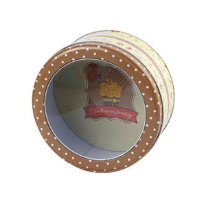 Round Window Lid Storage Tin - Ld Packagingmall