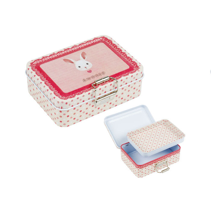 Rectangular Clip Lid Storage Tin With One Compartment - Ld Packagingmall