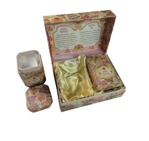 Cardboard Tea Gift Box with Tea Storage Box and Insert