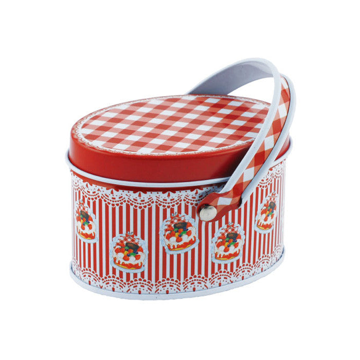 Oval Slip Lid Storage Tin with Handle - Ld Packagingmall