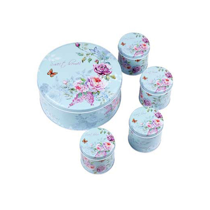 Round Slip Lid Storage Tin - Set of 5 - Ld Packagingmall