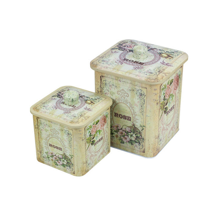 Square Biscuit Barrels-Set of 2