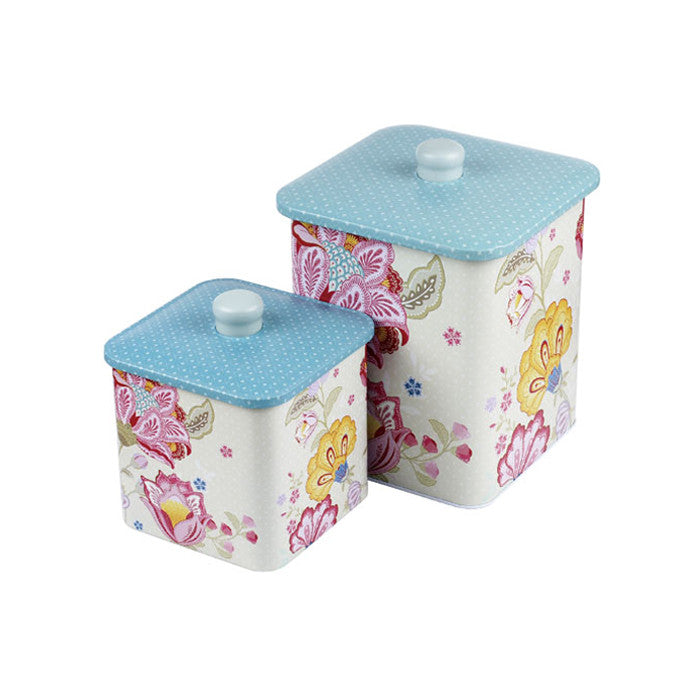 Square Biscuit Barrels-Set of 2 - Ld Packagingmall