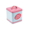 Square Slip Lid Storage Tin with Handle