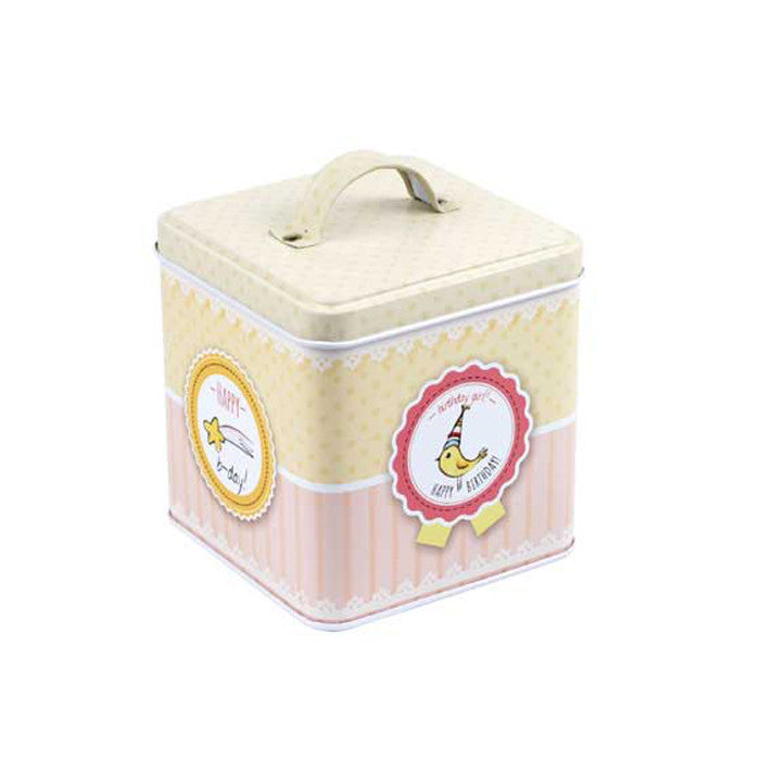 Square Slip Lid Storage Tin with Handle - Ld Packagingmall