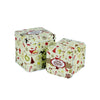 Square Slip Lid Storage Tin - Set of 2