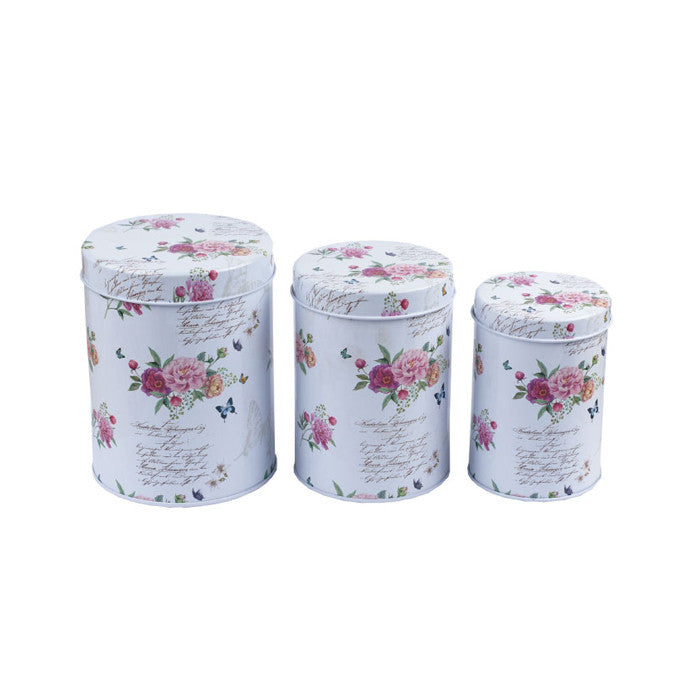 Round Slip Lid Stackable Storage Tin - Set of 3 - Ld Packagingmall