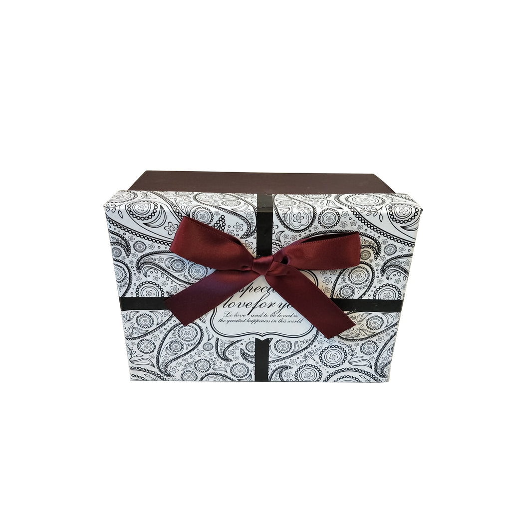 Luxury Nested Rigid Rectangular Gift Box With Lift Off Lid And Ribbon & Bow- Set Of 3 - Ld Packagingmall