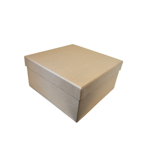 Natural kraft /Black Square Rigid Gift Box With Lift Off Lid - Ld Packagingmall