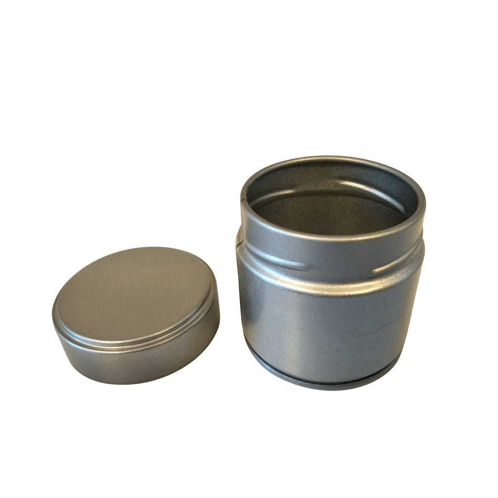 Luxury Round Matcha Tea Tin With Screw Lid