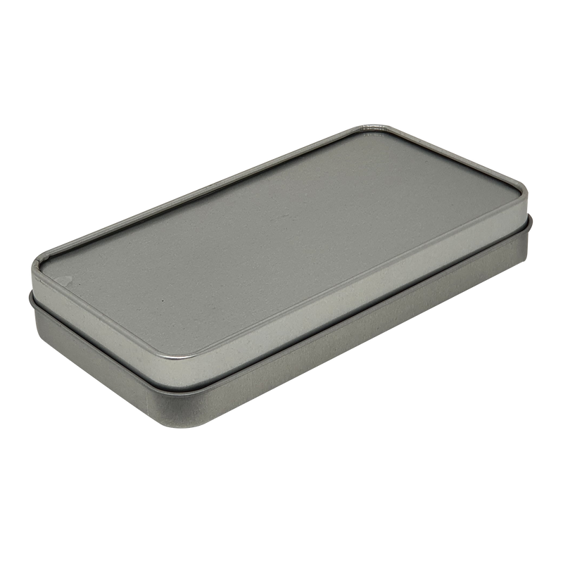Sliver Gift Tin Box with Solid Lid/ L150 x 80 x H25(mm)