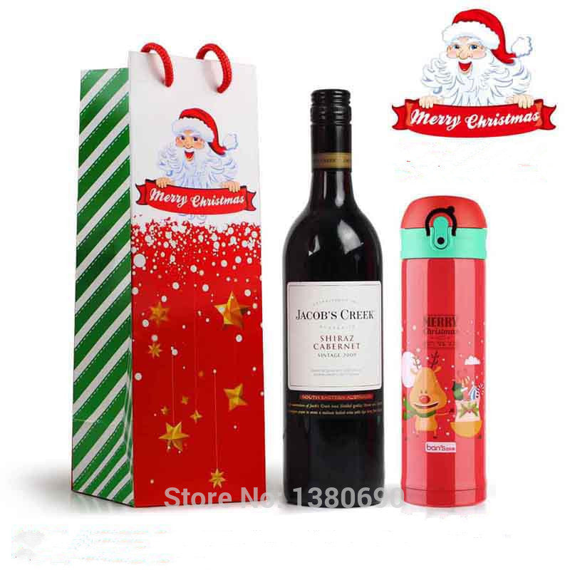 Merry Christmas Kraft Paper Bag Wine Gift Bags - Ld Packagingmall