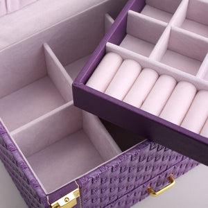 Portable Braided Pattern Necklace multi-layer Jewelry Storage Box - Ld Packagingmall
