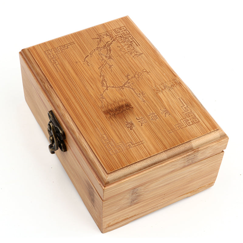 Natural Bamboo Storage Box With Lid Golden Lock - Ld Packagingmall