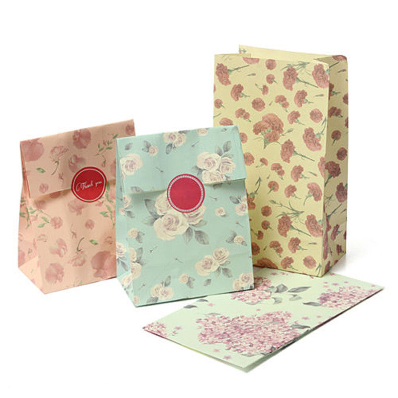Paper Gift Bags with Sticker - Ld Packagingmall
