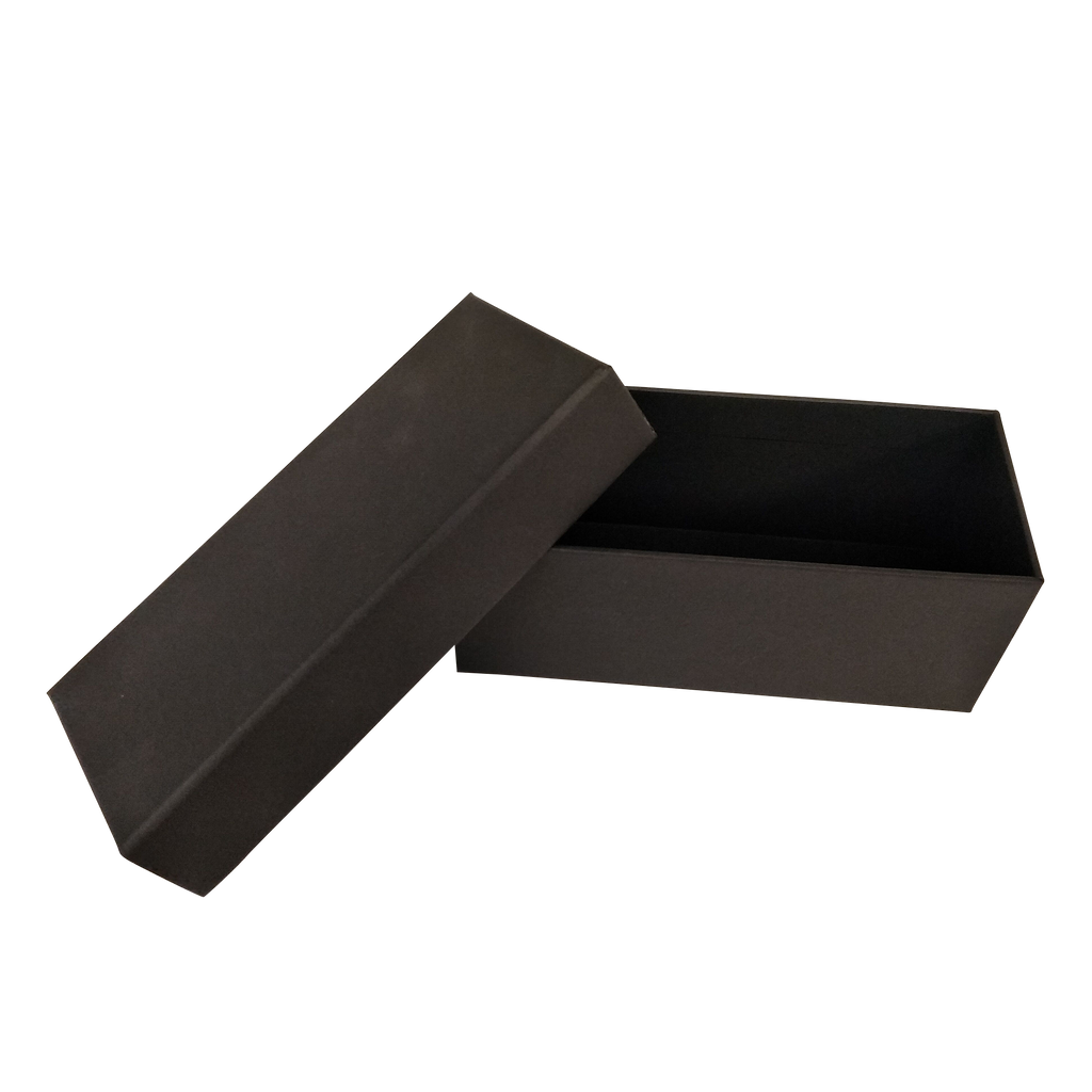 Black Rectangular Rigid Gift Box With Lift Off Lid