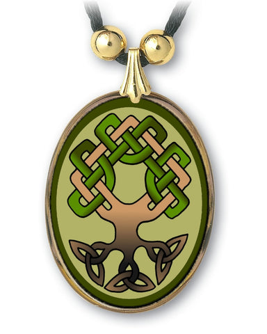 Celtic Tree of Life Pendant and Earrings - handcrafted by Hermit Studios