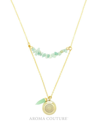 Adaline Amazonite Diffuser Necklace 24 inch by Aroma Couture