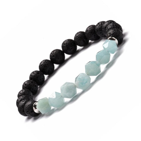 Geometric Gemstone and  Lava Healing Aroma Diffuser Bracelets - LIMITED EDITION